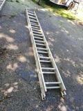 24 ft. Werner adjustable aluminum ladder