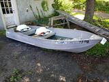 Sears aluminum 12 ft. V-nose boat