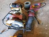 Chicago Electric circular saw and reciprocating saw, Drill Master grinder
