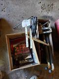 Car jack, staple gun, hardware
