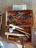 Hammers, channel locks, snips, mallets