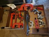 Pipe cutters, pipe wrenches