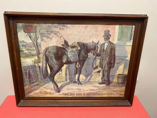 """1899 copyright J.W. McCulloch Owensboro Kentucky """"She was bred in old Kentucky"""""""