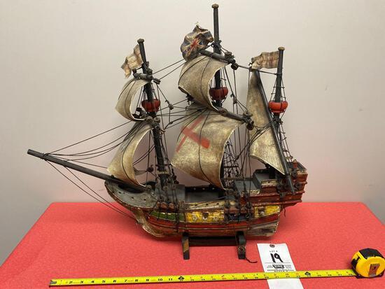Wood sail ship