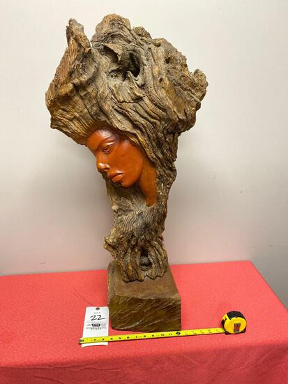 Carved driftwood sculpture made by Salvatore Rizzuti