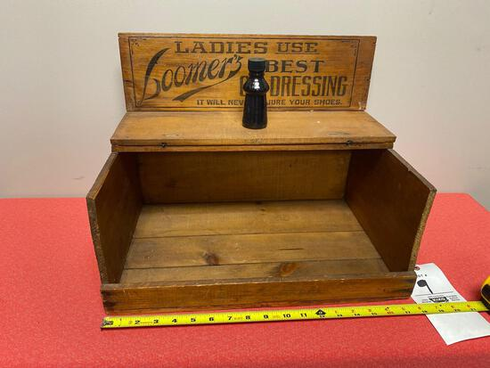 Loomer's Oil Dressing store display circa 1820-1830 Chicago