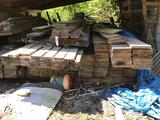Large lot of dimensional lumber 2 x6, 8, 10, 12