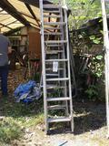 2 aluminum extension ladders