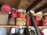 Shelf of gas cans