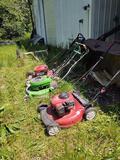 3 Push mowers