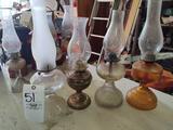 4 Oil Lamps