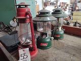 2 Coleman Lanterns & 1 Unmarked Lantern