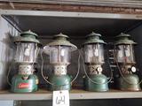 4 Coleman Lanterns