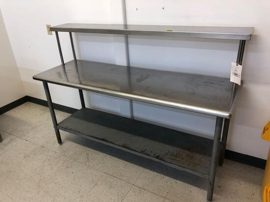 72in x 24in Stainless Steel Table with Shelf