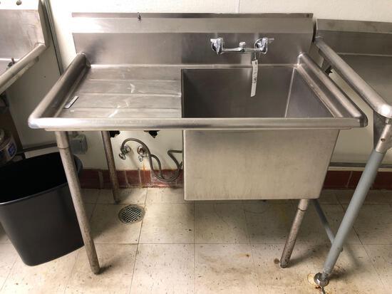 Stainless Steel Single Sink 44in W