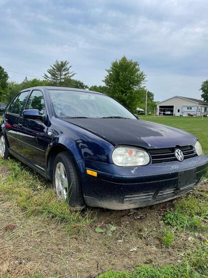 2002 Volkswagen Golf 2.0, Gas, Auto, Not Running, Miles Unknown