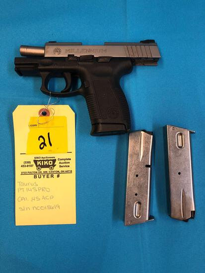 Taurus PT145pro 45 cal NC018619 with clips