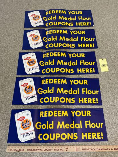 5 Betty Crocker Gold Medal Flour Store Advertising Posters