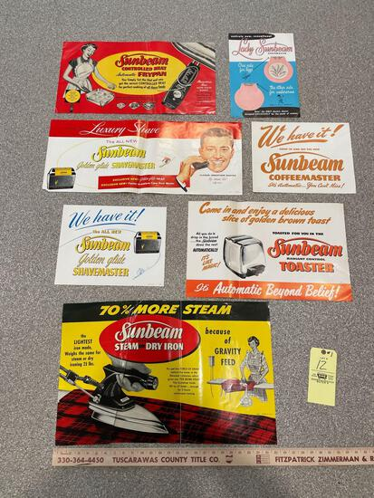 1950s Store Display Sunbeam Poster Advertising
