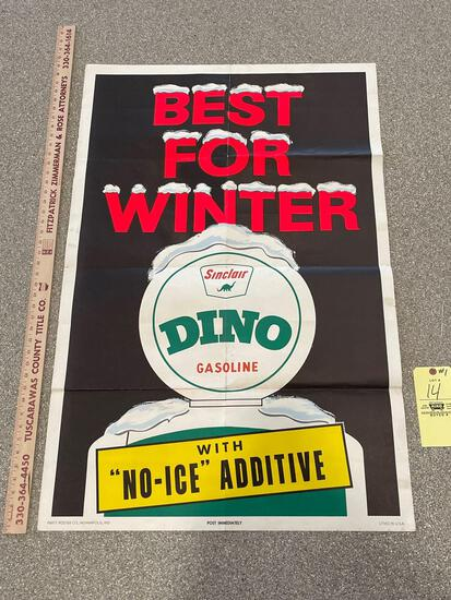 Vintage Sinclair Dino Gasoline Poster
