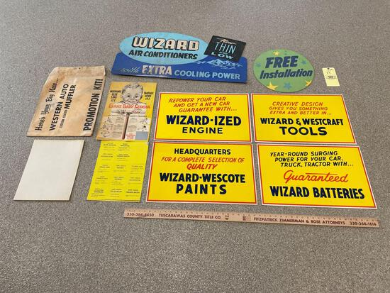 Western Auto and Wizard Advertising Posters
