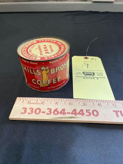 Hills Bros Coffee Seal Tin