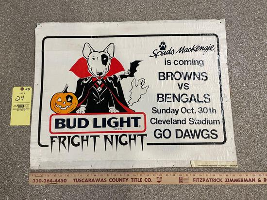 Halloween Bud Light Fright Night Spuds Mackenzie Budweiser