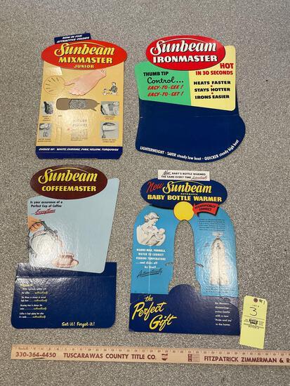1950s Store Counter Display Sunbeam Cardboard Advertising