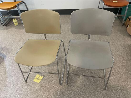 Two Mid-Century Modern Art Deco Steelcase Chairs