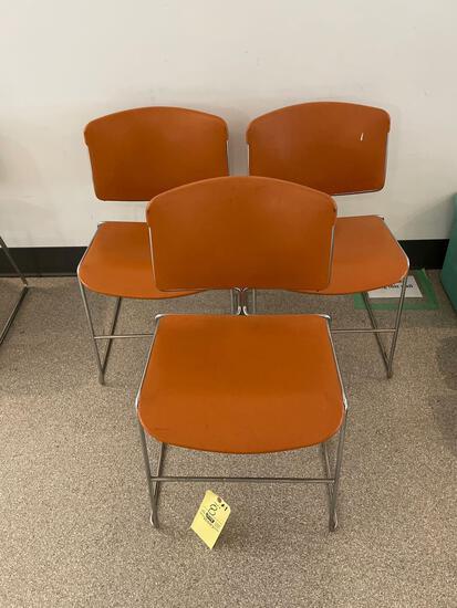 Three Mid-Century Modern Art Deco Steelcase Chairs