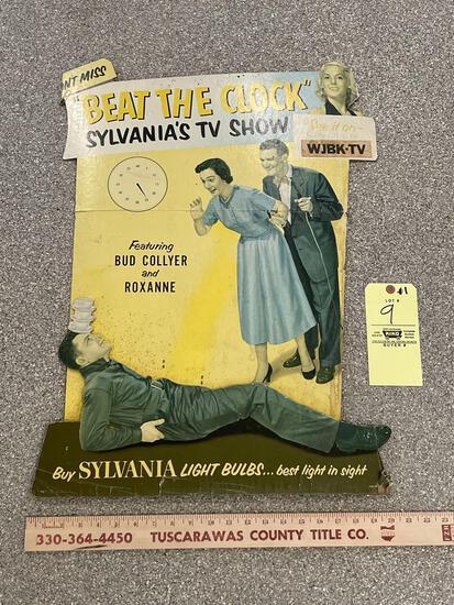 1950s Sylvania Light Bulbs Beat the Clock TV Advertising