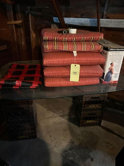 Patio items and air mattress
