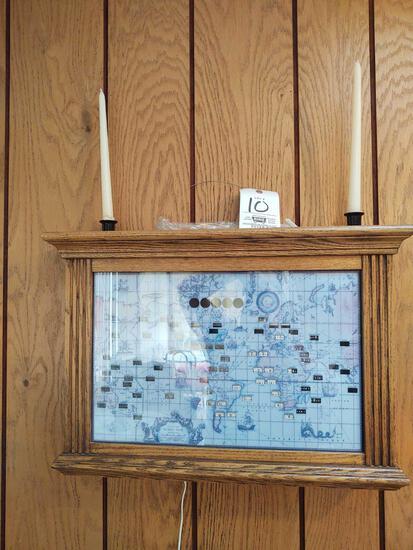 Howard Miller World Time Clock and Candlesticks