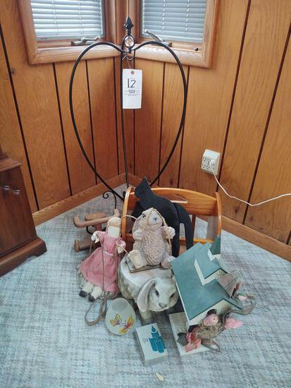 PlantHanger, Magazine Rack, Bunny Decor, Clocks and Scale
