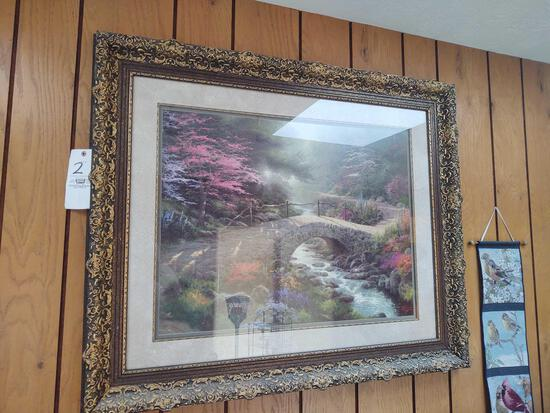 Thomas Kincade Style Framed Picture 1491/3850