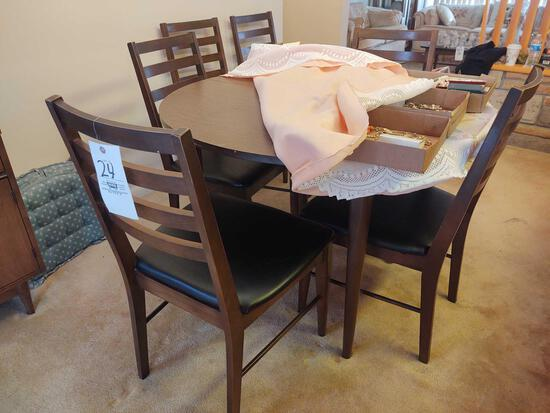 Dinette Table w/ 6 Six Chairs