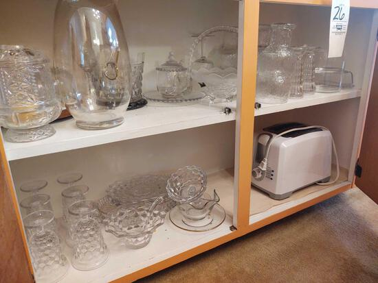 Pattern Glassware and Toaster