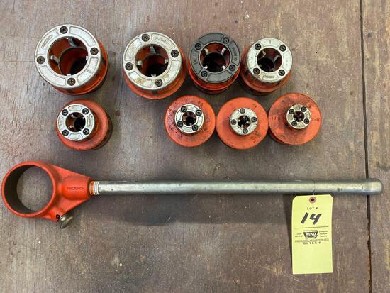RIDGID pipe threader set.