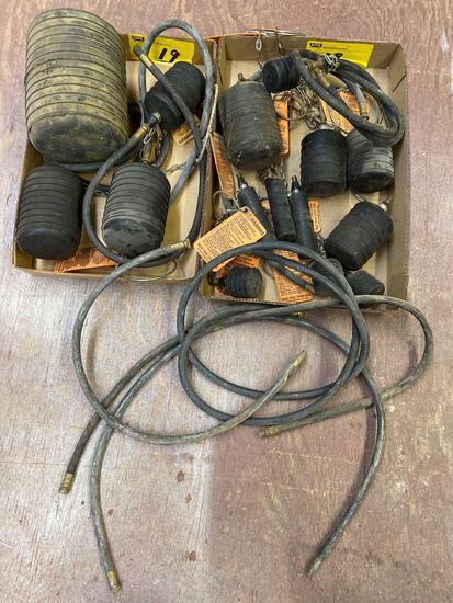 Cherne short test balls w/ extension hoses.