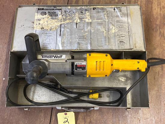 "TimberWolf Black & Decker Industrial 1/2"" right angle drill."