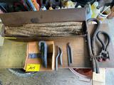 Joint runners, caulking irons, lead wool, oaken.
