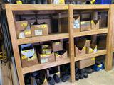 Wooden storage shelf, 8' wide x 6' tall x 24