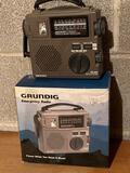 Grundig emergency radio (AM/FM/shortwave).