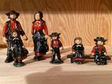 Set of cast-iron Amish family.