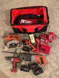 Bag w/ Milwaukee power tools