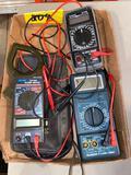(3) Amp meters.
