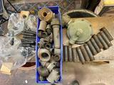 Gas pipe fittings, pressure regulator.