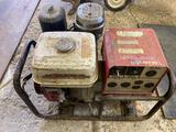 Honda 5000X electronic ignition generator, has oil alert.