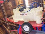 Fimco 25-gallon trailer sprayer w/ high flow Gold Series pump.