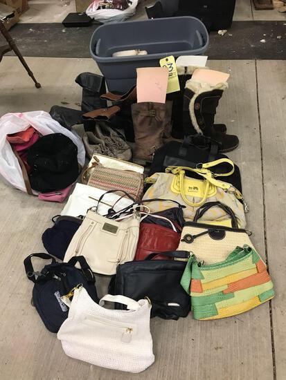 Handbags, purses, boots and shoes, 1 Coach l, liz Claiborne